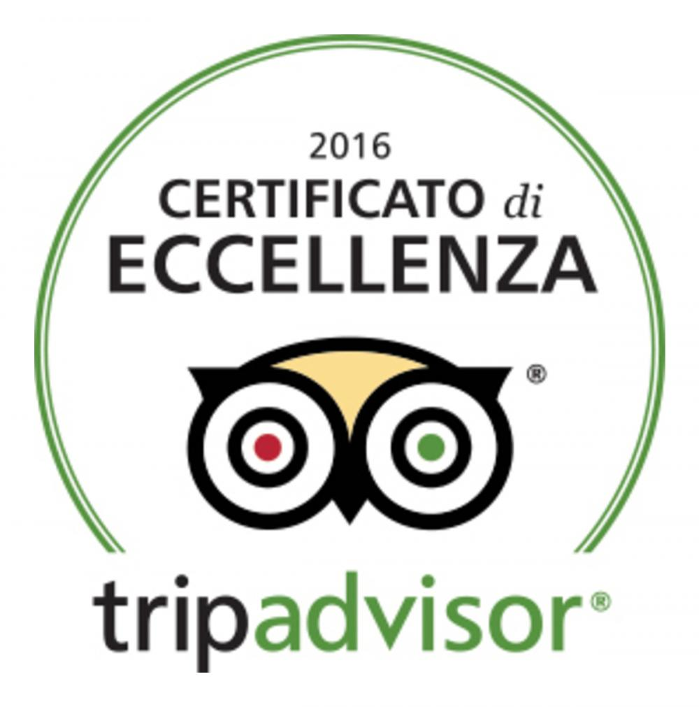 2016 Trip Advisor Certificate of Excellence