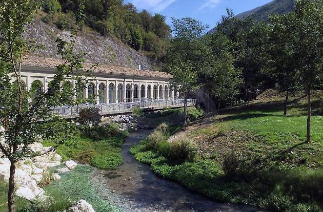 The ancient Roman Baths at Triponzo have reopened
